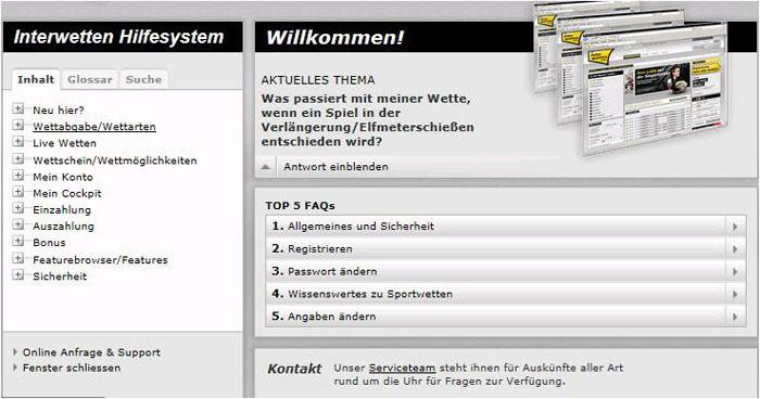 Interwetten FAQ