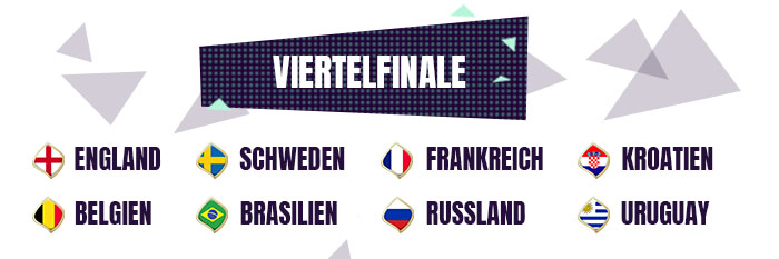 WM 2018 Viertelfinale Quoten