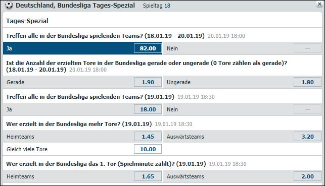 Bet-at-home Bundesliga Spezialwetten