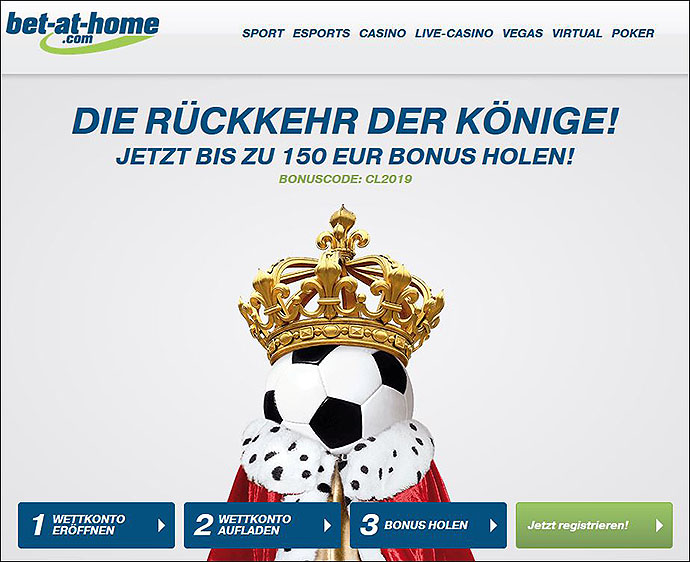 Bet-at-home 150 Euro Bonus